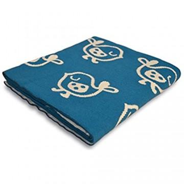 casa pura Kinderdecke Tweet mit süßem Vogel Motiv | schadstoffgeprüft | kuschelige Decke aus Baumwolle | Größe wählbar (100x120 cm) Baumwolldecke - Kuscheldecke