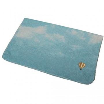"David Fussenegger 1365770 MILA Babydecke""Wolken mit Ballon"" inkl. Stick blau 400 g"