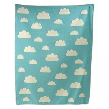 """David Fussenegger 590957J3 Finn Kinder- und Babydecke -""""Wolken"""" 100 x 130 cm"""
