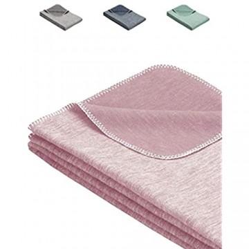 Flauschige Babydecke aus 100% Bio Baumwolle - kuschelige Baumwolldecke Ideal als Baby Decke Erstlingsdecke Einschlagdecke oder Kuscheldecke - Rosa für Mädchen