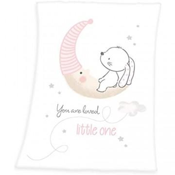 Herding Baby-Fleecedecke Little Bunny Motiv 75 x 100cm Polyester Weiß
