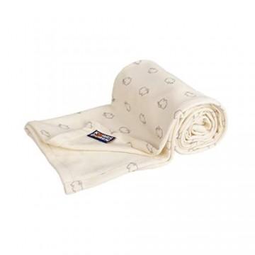 Kaarsgaren Baby und Kinder Bio-Baumwoll-Decke für den Sommer Kuscheldecke für Jungen und Mädchen Kinderwagendecke Babydecke Erstlingsdecke Sommerdecke (Natur Lämmer 70 x 100 cm)