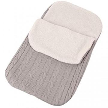 Baby Swaddle Decke 1 Pack Soft Thick Fleece Knit Plus Velvet Neugeborenen Swaddle Schlafsack für Baby Boys Girls Unisex