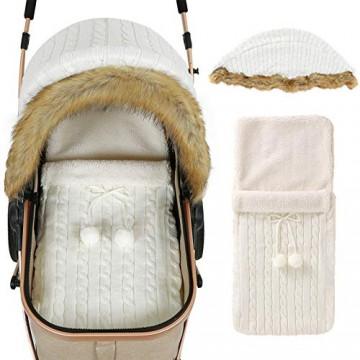 iFCOW Wickeldecke für Neugeborene Baby Kinderwagen Abdeckung Schlafsack Set Neugeborene Kleinkinder Autositz Betthimmel Buggy Wickeltuch für Baby Mädchen Jungen