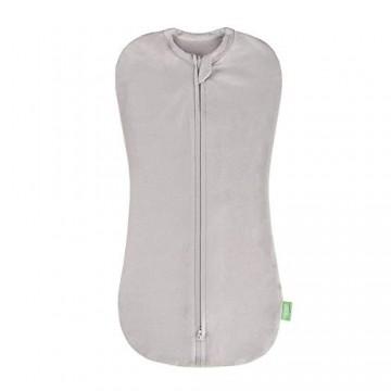 Lulando Snoozy Baby Decke Pucktuch Baby Für Neugeborene Swaddle Decke aus 100% Bio-Baumwolle 5-8 5kg Grau
