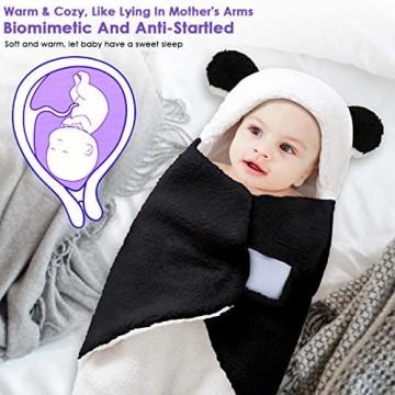 Rehomy Baby-Wickeldecke für Kinderwagen Kinderbett warmer Fleece-Schlafsack für Neugeborene und Kleinkinder