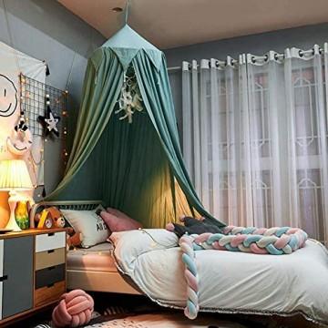 Bed Canopy Curtain Für Kinder Babybett Round Dome Kids Indoor Outdoor Castle Spielzelt Hanging House Dekoration Reading Nook Cotton
