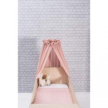 """Jollein - Betthimmel Vintage""""Blush Pink"""" 155cm - Rosa Baldachin für Babys & Kinder - Himmel für Babybetten - Bett Schleier - Schlafzimmerdekoration - Moskitonetz"""