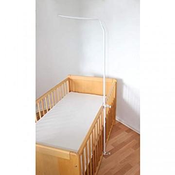 TupTam Universale Himmelstange Babybett Himmelhalter Farbe: Weiß Größe: ca. 150 cm