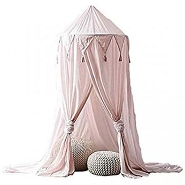 jsadfojas Moskitonetz Baby Baldachin Betthimmel Kinder Bett Hängende Moskiton für Reise und Zuhause Zeit Höhe 240 cm (240 x 260 cm Rosa5)