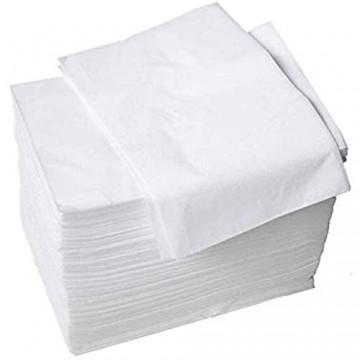 100 Stück Einweg Massagetisch Bettlaken aus Vliesstoff 80 x 180cm Matratzenbezüge Weiß Hygiene-Auflage Bettlaken für Schönheitssalon SPA Massage Öffentliche Bäder Tätowieren