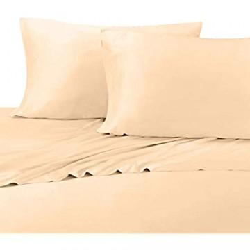 Abripedic Seidig weiche Bambus-Bettlaken Fadenzahl 600 100 % Viskose aus Bambus-Bettlaken-Set Queensize Canvas