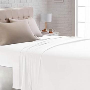 Basics – Satin-Bettlaken 275 x 275 cm weiß