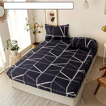 Bettlaken Soft Fitted Sheet Mit Gummiband Massivbettlaken Abdeckfalten- licht- Flecken- und Abriebfeste Laken Stil 11 1 Blatt 90x200x30cm