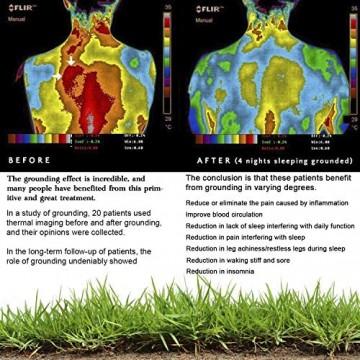 CONDUCTIVE Brand Earthing Erdungs-Bettlaken mit Bodenverbindungsschnur (132 1 x 68 6 cm) Originalfarbe 95% Bio-Baumwolle mit 5% Silberfaser für Wellnessvorteile Schlaf-EMF-Schutz