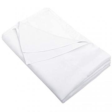 FLXXIE Bettlaken für Doppelbett ultraweiche Mikrofaser klassisch und langlebig knitterfrei farbecht schmutzabweisend weiß