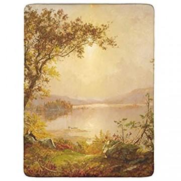 Huffle-Pickffle 4-Teiliges Bett-Set Landschaft Elegant Atmungsaktiv Design-Landschaft Bettlaken White 203x230cm