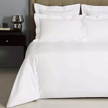 Linens Limited Bettlaken - Ägypt. Baumwolle Fadenzahl 400 - Weiß - für 275 x 300cm/180 x 200cm