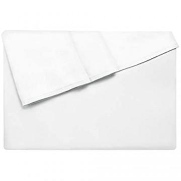 Lirex Bettlaken Full-Größe Hochwertige Extra Weiche Gebürstete Mikrofaser Flaches Blatt Maschinenwäsche Faltenfrei - Weiß
