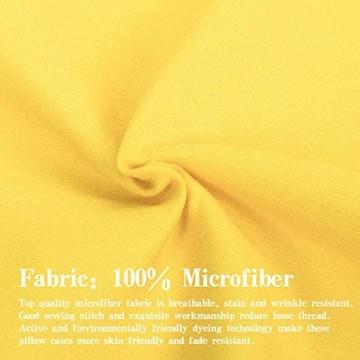 NTBAY Mikrofaser-Bettlaken besonders weich und knitterfrei verblasst nicht schmutzabweisend Gelb