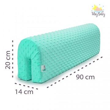 Bettumrandung Kinderbetten Schutz - Bettkantenschutz Kinder für Bettrahmen Kantenschutz Babybett MINT Minky