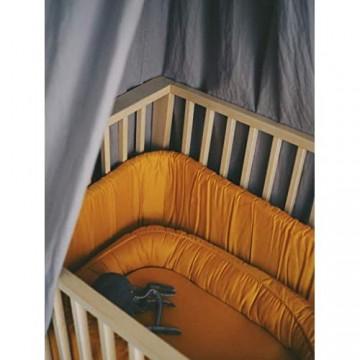 Filibabba® Babynestchen Baby Nest für Neugeborene und Kleinkinder | Größe: 85 x 50 cm | Super Weich | GOTS Bio Baumwolle (Golden Mustard)