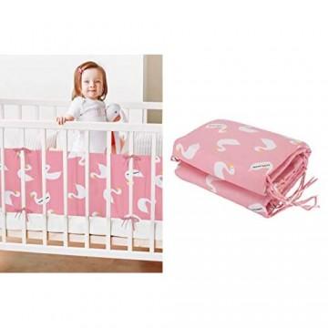 MUTTI Bettumrandung Babybett Kopfschutz Kinderbett- Gratis Katenschutz | Handmade | EU MARKE Weben Krippe Baby babybettumrandung Stoßfänger Nestchen Laufgitter Laufstall Umrandung 180