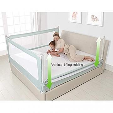 Bettgitter Tragbare Bettgitter vertikaler Hub und Faltbarer Zaun mit Lüftungsnetz für Kleinkinder Kind Baby Kids-grau 1 2 m / 1 5 m / 1 8 m / 2 0 m Baby Bettgitter (Farbe : Gray größe : 1.5m)