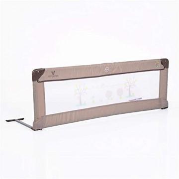 Cangaroo Bettschutzgitter Bettgitter 130 x 43 5 cm für zuhause und unterwegs beige