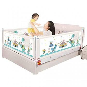 HBIAO Bettgitter für Kleinkinder Baby-Absturzsicherungsgeländer Kindersicherheit und Absturzsicherung Bettleitblech Universal-Bettleitplanke 1 Seite 1.8m
