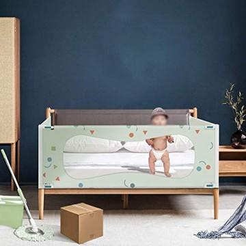 HLR-Baby Bettgitter Bettgitter Bettschutzgitter Klappbar Kinderbettgitter Vertikale Einstellung Babybettgitter Für Kleinkinder (Size : 150cm)