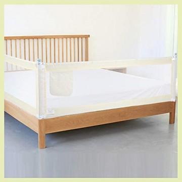MorNon 200×68cm Bettgitter Bettschutzgitter Nachtzaun Fallschutz Safety Tragbar Verstellbar Infant Bettgitter für Kleinkinder Babys und Kinder