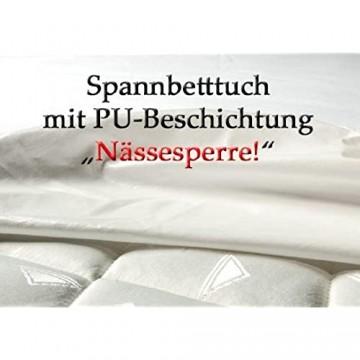 CA1075 Matratzenschutz als Spannbetttuch mit PU Beschichtung zusätzlich auch an den Seiten Hygieneschutz Inkontinenz Spannlaken Bettlaken Pflege (90x200cm)