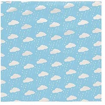 Geizland Wasserdichte Bettunterlage für Babys waschbar und wiederverwendbar für Erwachsene ältere Menschen Kinder Kleinkinder 80110 (Wolken und Regentropfen)