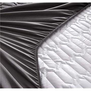 KIrSv Kinderbett Tagesdecke,Verdicken Sie atmungsaktive und staubdichte Laken Gesteppte wasserdichte Matratzenschoner (Einzel- und Doppelkönig) -I_150x200cm + 30cm