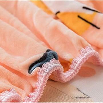 LCFCYY Spannbettlaken Dicker und Warmer Kristall-Samt-Matratzenbezug Matratzenauflage mit Cartoon-Druck geeignet für Kinderzimmer-U_120 * 200 cm