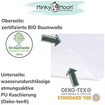 Wasserdichter Matratzenschoner aus Bio-Baumwolle für Babys und Kleinkinder - Oeko-TEX 100 Zertifiziert atmungsaktive Matratzenauflage – Matratzenschonbezug für Kinder (140 x 70 Weiß)