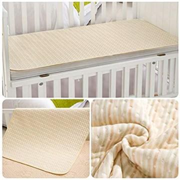 Yousiju 100 * 70cm Baumwolle wasserdichte Bettlaken Pad Matratzenschoner for Kleinkinder Erwachsene und Babys
