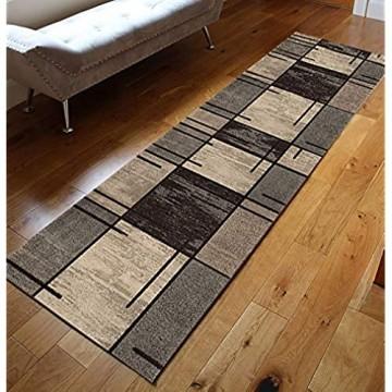 GJIF Läufer Teppich Flur rutschfest Modern Geometrisch Korridor Teppich Für Küche Wohnzimmer Schlafzimmer Breite 60cm / 80cm/ 90cm/ 100cm/ 120cm(Size:80x300cm)