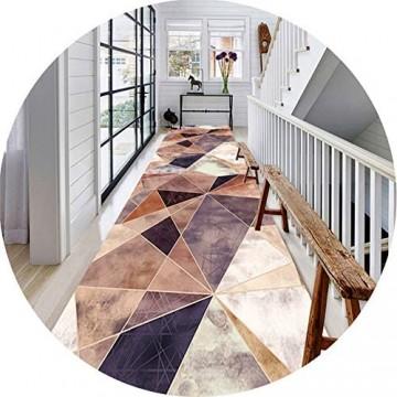 ZRUYI Läufer Teppiche Flur Teppich Korridor Teppich Eingang Matte 3D Polygon Muster Innen- Draussen Familie Verschleißfest rutschfeste Matte Anpassen Größe (Color : A Size : 1x6m)