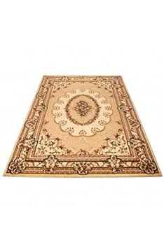 Carpeto Teppich Orientteppich Creme 300 x 400 cm Ornamente Konturenschnitt Muster Iskander Kollektion