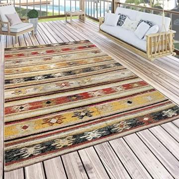 Paco Home In- & Outdoor Teppich Modern Jelle Print Terrassen Teppich Gelb Grösse:160x220 cm