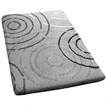 Kleine Wolke Badteppich Acryl Grau/Weiß 50 x 60 cm