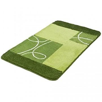 Kleine Wolke Badteppich Curly grün 70 x 120 cm