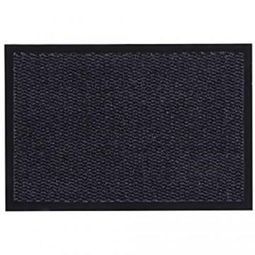 andiamo Schmutzfangmatte Fußmatte aus Polypropylen – Indoor/Outdoor geeignet - in 40 x 60 cm Anthrazit – 5 mm Höhe