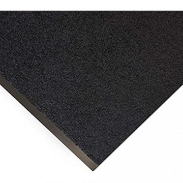 Floordirekt Schmutzfangmatte Monochrom   viele Größen viele Farben   Länge auf Maß   rutschfeste waschbare Fußmatte (Schwarz 90 x 250 cm)