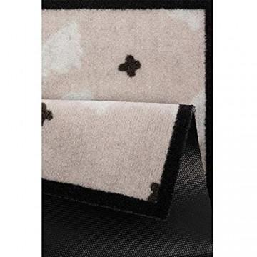 Hanse Home Design Türmatte Fußabtreter Fußmatte Osterhasen für Indoor und Outdoor (40 x 60 cm 100% Polyamid einfache Reinigung rutschfest) Beige/Creme