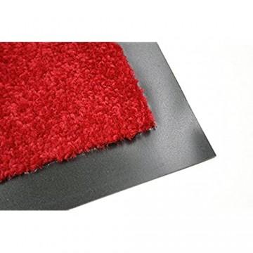 Selena Fussmatte - Türmatte - Schmutzabstreifer - Haustürmatte - Fussabtreter - Sauberlauf rot 40 x 60 cm