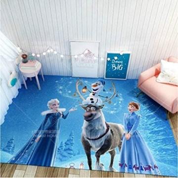 chengcheng Frozen Teppich Prinzessin Aisha Kinder Nachtteppiche Kinderzimmer Kinder Bodenmatte rutschfeste Pad Home Decor240x320cm