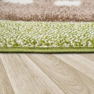 Kinderzimmer Kinderteppich Teppich Rund Kurzflor Straßen Muster Modern Pastell Grösse:160 cm Rund Farbe:Grün
